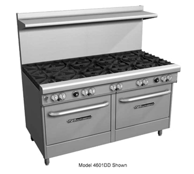 "Southbend 4604DD-4TR 60"" 2-Burner Gas Range with Griddle, LP"