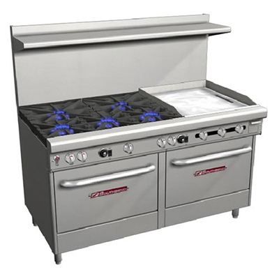 "Southbend 4606AA-2GR 60"" 5-Burner Gas Range with Griddle, NG"