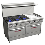"Southbend 4606DD-2GR 60"" 5-Burner Gas Range with Griddle, NG"