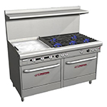 "Southbend 4606DD-2TL 60"" 5-Burner Gas Range with Griddle, LP"