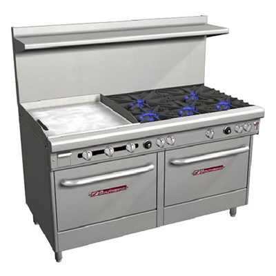 "Southbend 4606DD-2TL 60"" 5-Burner Gas Range with Griddle, NG"