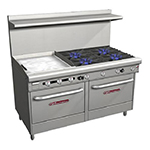 "Southbend 4607AD-2GL 60"" 4-Burner Gas Range with Griddle, LP"
