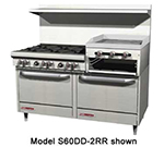 "Southbend 4607DD-2RR 60"" 4-Burner Gas Range with Griddle & Broiler, NG"