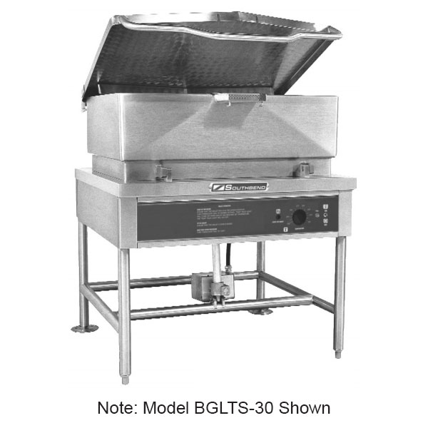 Southbend BGLTS-30 30-gal Tilting Skillet w/ Pour Strainer, Stainless, NG