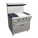 "Southbend H4361A-2TR 36"" 2-Burner Gas Range with Griddle, NG"