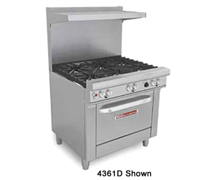 "Southbend H4361D-2GL 36"" 2-Burner Gas Range with Griddle, LP"