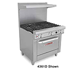 "Southbend H4361D-2GL 36"" 2-Burner Gas Range with Griddle, NG"