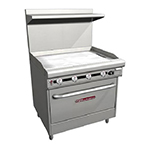 "Southbend H436A-3T 36"" Gas Range with Griddle, LP"