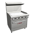 "Southbend H436D-3T 36"" Gas Range with Griddl"