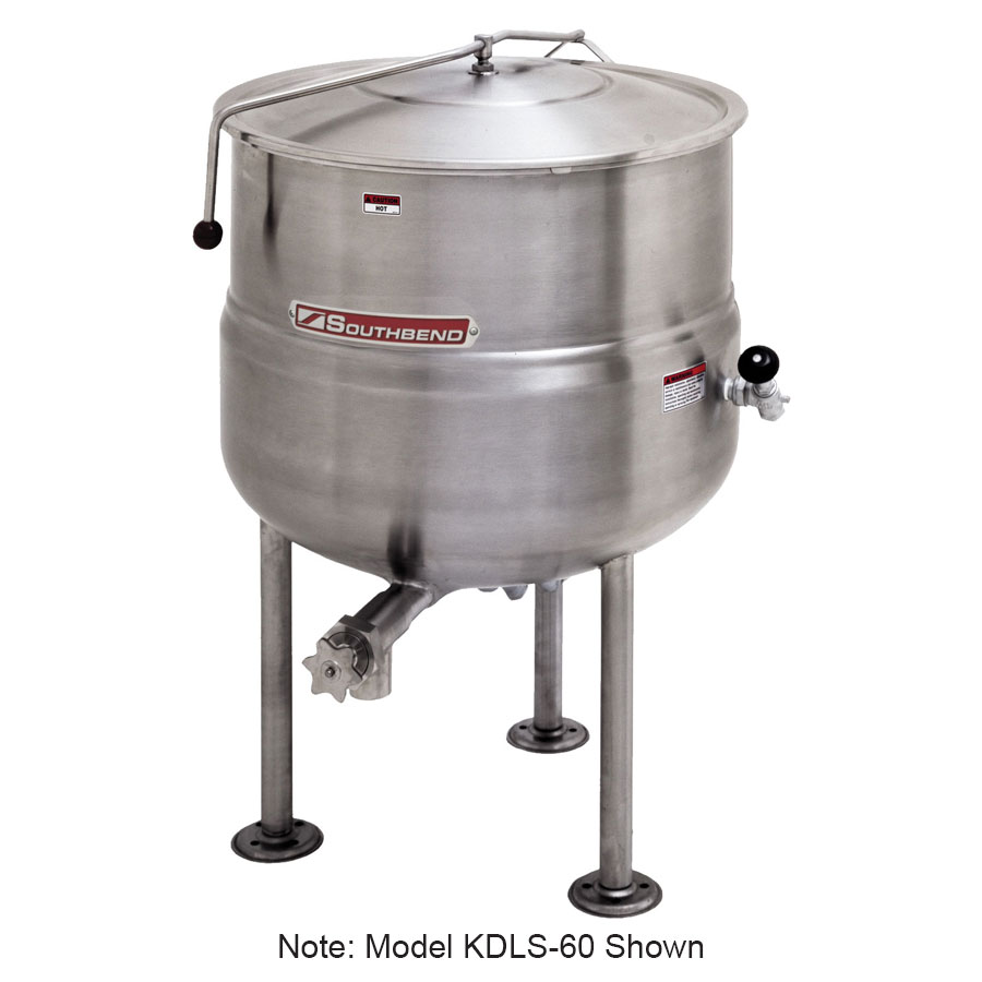 Southbend KDLS-30 30-gal Direct Stationary Kettle, Spring Assist Cover, 2/3-Jacket