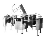 Southbend KDMTL-60-2 Twin 60-gal Direct Tilt-Type Kettle Mixer, 2/3-Jacket