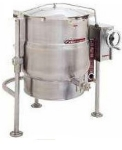 Southbend KDPT-40 40-gal Direct Crank Tilting Kettle, Pedestal, 2/3-Jacket