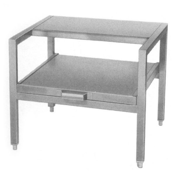 """Southbend KEDC-24 24"""" x 21"""" Stationary Equipment Stand for Kettles, Open Base"""