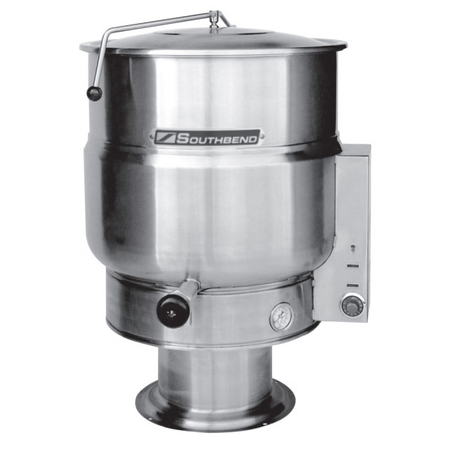 Southbend KEPS-40 40-gal Stationary Kettle, Pedestal, Thermostatic, 2/3-Jacket, 208v/3ph