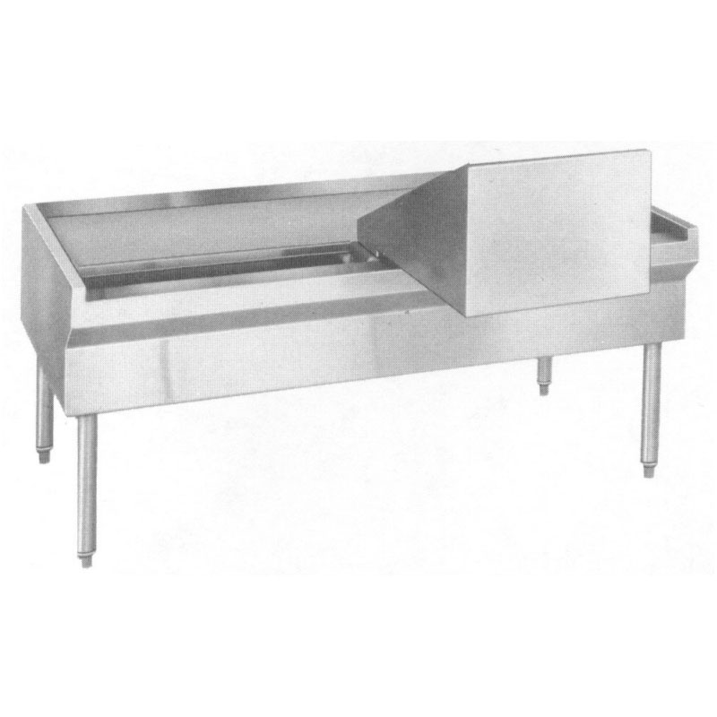 """Southbend KTED-80 80"""" Kettle Stand for Direct Kettles, Drain Trough"""