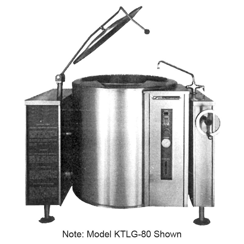 Southbend KTLG-30 30-gal Tilting Kettle, Thermostatic Control, 2/3-Jacket, NG