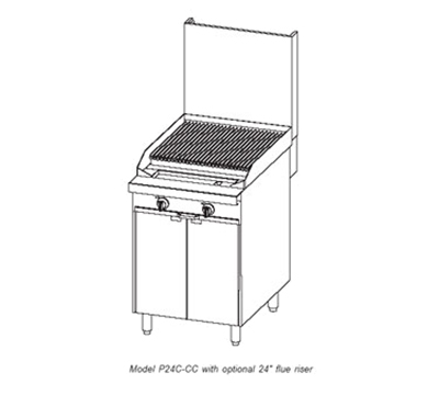 """Southbend P24N-CC 24"""" Gas Range with Charbroiler, LP"""