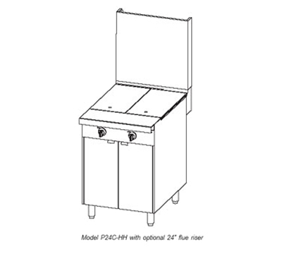 """Southbend P24N-HH 24"""" Gas Range with Hot Top, NG"""