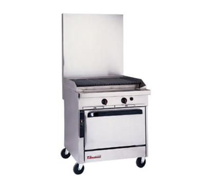 "Southbend P32N-CC 32"" Gas Range with Charbroiler, LP"