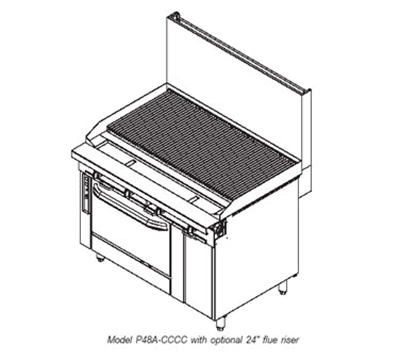 """Southbend P48A-CCCC 48"""" Gas Range with Charbroiler, NG"""