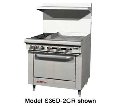 """Southbend S36D-2G 36"""" 2-Burner Gas Range with Griddle, LP"""