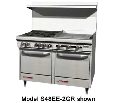 "Southbend S48EE-4T 48"" Gas Range with Griddle, NG"