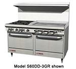 "Southbend S60AA-4G 60"" 2-Burner Gas Range with Griddle, LP"