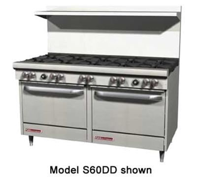 "Southbend S60AA 60"" 10-Burner Gas Range, NG"