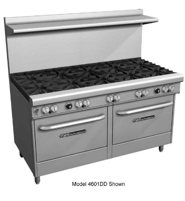 Southbend 4603AA-4GR LP 60-in Range w/ 2-Star Burners & 48-in Right Griddle, 2-Convection Oven, LP