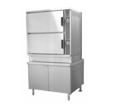 Southbend DCX-2S-6-6 2-Compartment Convection Steamer, 6-Pan, 60-in Cabinet, 120 V