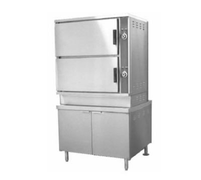 Southbend ECX-16 2203 2-Compartment Convection Steamer, 8-Pan, 36-in Cabinet, 220/3 V