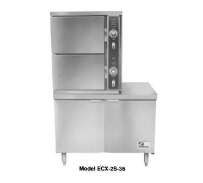 Southbend ECX-2S-36 2303 2-Compartment Convection Steamer, 6-Pan, 36-in Cabinet, 230/3 V