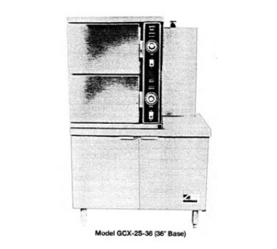 Southbend GCX-2S-36 LP 2-Compartment Convection Steamer, 6-Pan, 36-in Cabinet, LP