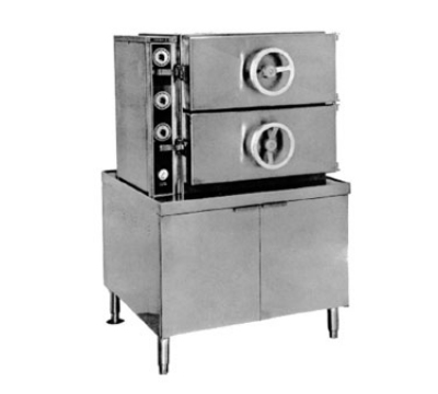 Southbend GDA-2S NG 2-Compartment Dual-Pressure Steamer, 36-in Cabinet, Manual Control, NG