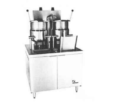 "Southbend GMT-6-6 36"" Standard Cabinet & (2) 6-gal Kettle Assembly, Stainless, NG"