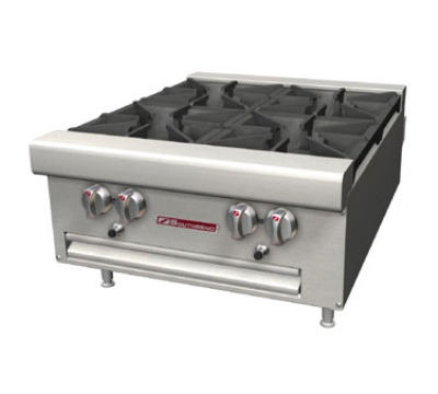 Southbend HDO-36 NG 36-in Countertop Hotplate w/ 6-Open Burners, Cast-Iron Grates, NG