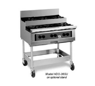 "Southbend HDO-36SU 36"" Countertop Hotplate w/ Step-Up 6-Open Burners, Cast-Iron Grates, NG"