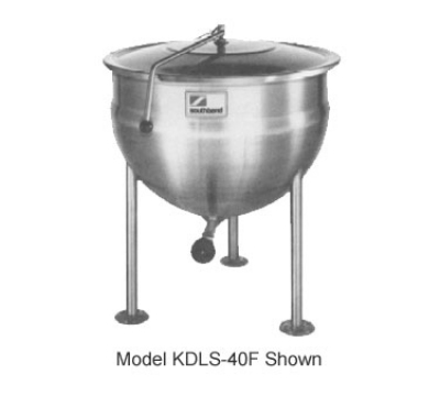 Southbend KDLS-30F 30-gal Direct Stationary Kettle, Spring Assist Cover, Full Jacket