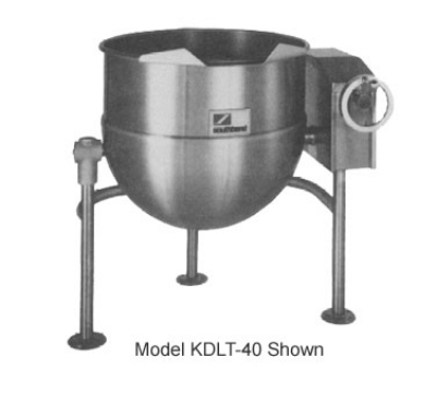 Southbend KDLT-20 20-gal Direct Steam Kettle, Crank Tilt, 2/3-Jacket