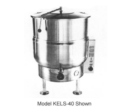 Southbend KELS-40 2083 40-Gallon Stationary Kettle, Thermostatic Control, 2/3-Jacket, 208/3 V