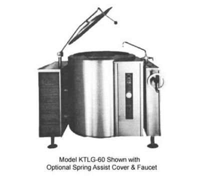 Southbend KTLG-40 NG 40-Gallon Tilting Kettle, Thermostatic Control, 2/3-Jacket, NG