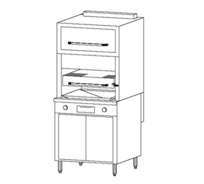 Southbend P32A-3240 NG 32-in Platinum 1-Deck Broiler w/ Radiant Burner, Convection Oven, NG