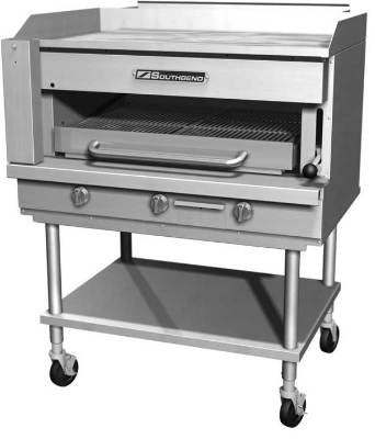 Southbend SSB-32 NG 32-in Steakhouse Griddle Top Broiler, 9-Position Broiler Rack, NG