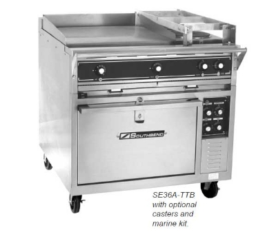"Southbend SE36A-BBB 36"" 6-Sealed Element Electric Range, 208v/3ph"