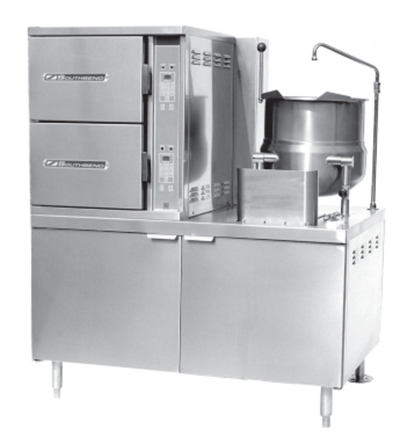 "Southbend SCX-10S-10 48"" Steam Coil Convection Steamer & 10-gal Kettle, Cabinet, 120v"