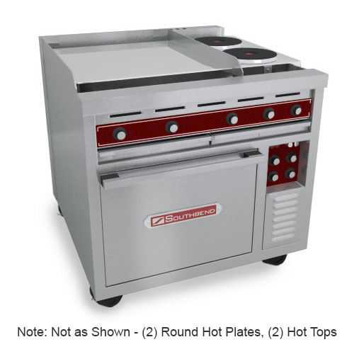 "Southbend SE36D-HHB 36"" 2-Sealed Element Electric Range with Hot Top, 240v/3ph"