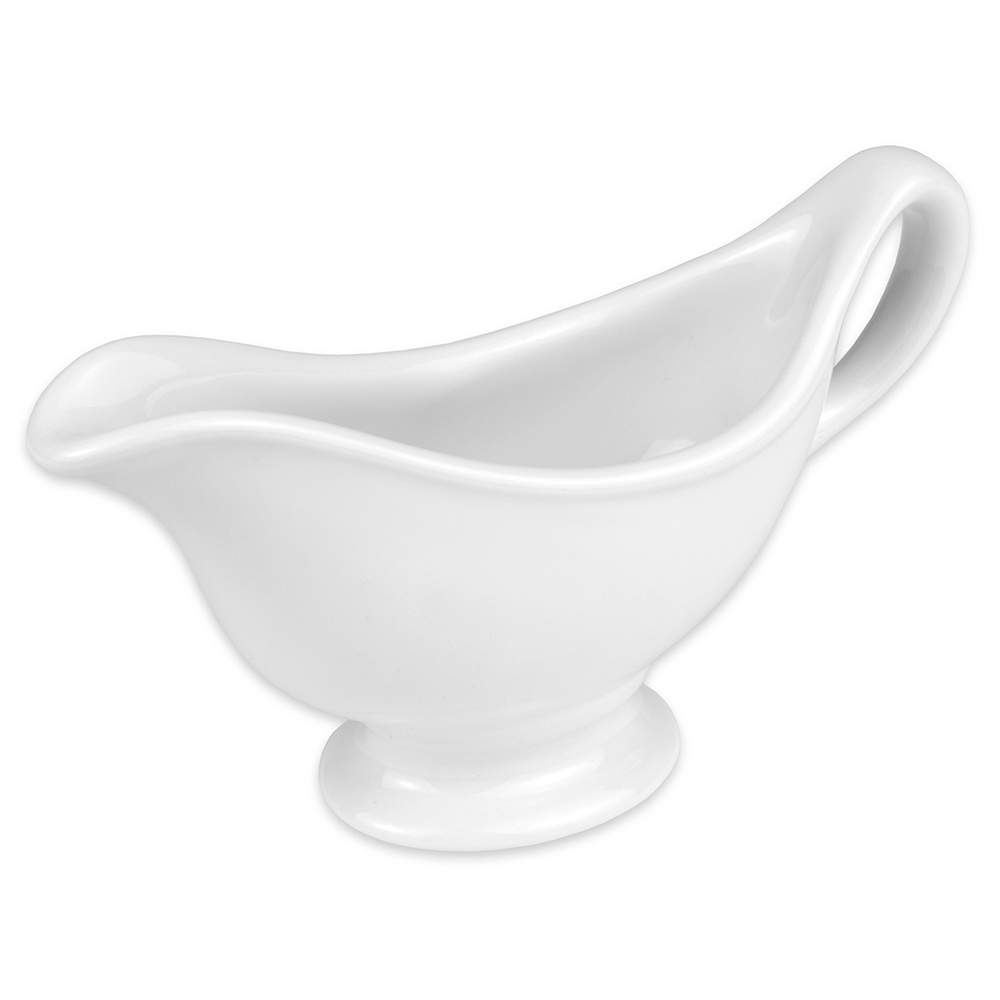 Hall China 11360ABWA 3.75-oz Sauce Gravy Boat, Bright White