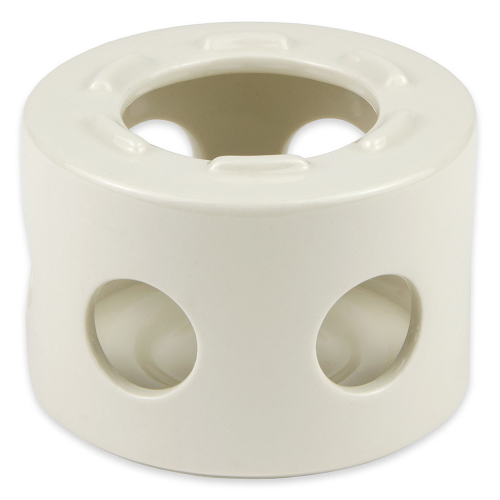 """Hall China 11430AWHA 4"""" Round Butter Warmer Stand Only, White"""