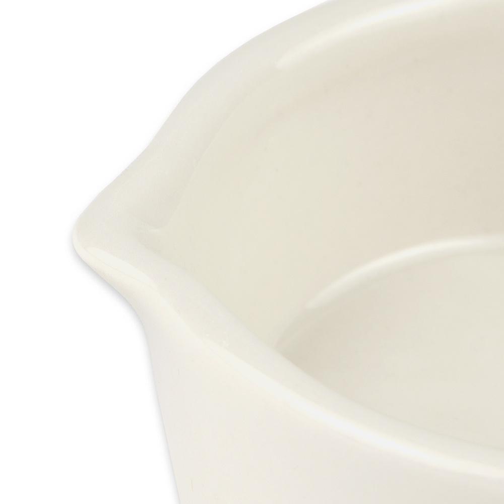 """Hall China 11440AWHA 3.75"""" Round Sauce Gravy Boat w/ 3-oz Capacity, White"""