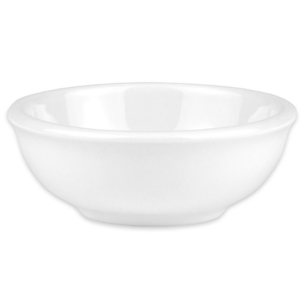 """Hall China 1780ABWA 3.875"""" Round Salsa Bowl w/ 5-oz Capacity, White"""